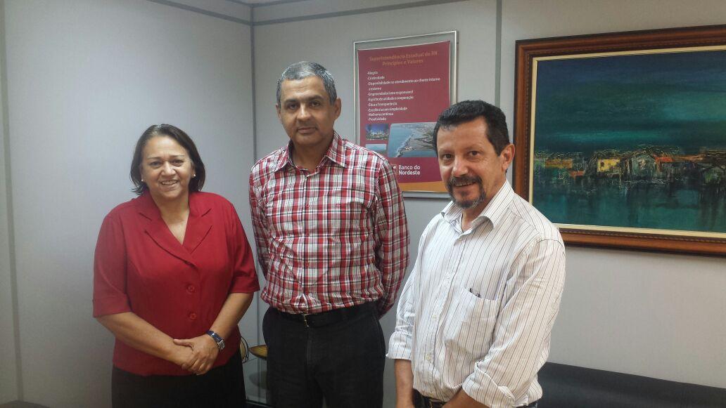 Fátima, Adriano Gadelha e José Mendes Batista (BNB)