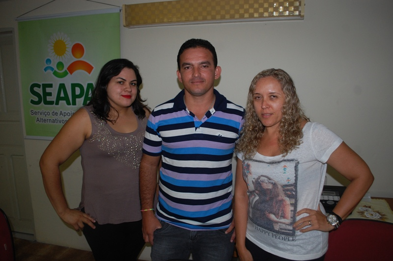 Silvana Azevedo (Geógrafa), Micael Ramalho (agrônomo) e Ana Lurdes (economista) – Foto: Paulo Júnior