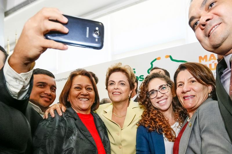 Brasília - DF, 04/08/2015. Presidenta Dilma Rousseff durante cerimônia de celebração de 2 anos do Programa Mais Médicos.  Foto: Roberto Stuckert Filho/PR.