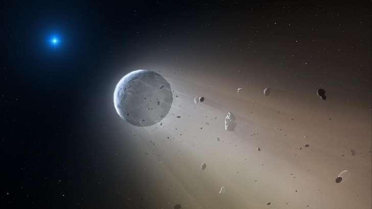 © Mark A. Garlick Estrela da Morte: o objeto é formado por uma camada de poeira gigantesca