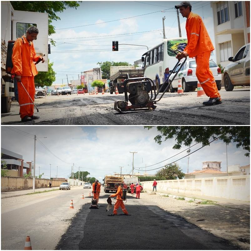 Operação Tapa-Buracos realizada pela Prefeitura do Assú com Recursos Próprios