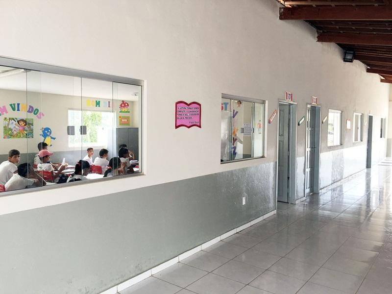 Escola Manoel Belmino, em Cerro Corá, reformada após recomendações