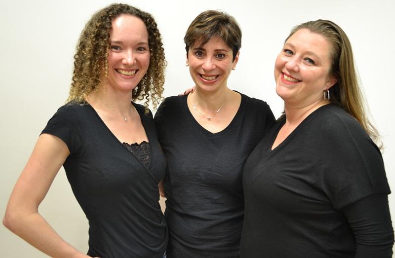 As sócias da esquerda para direira_Evelise Hubner, Lilian Nogueira e Milena Medeiros