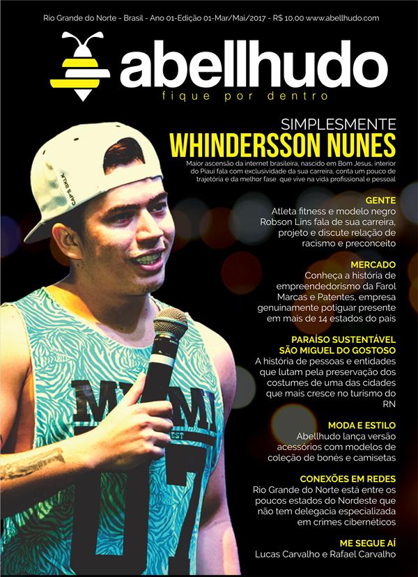 abellhudo capa Youtuber Whindersson Nunes.Divulgação
