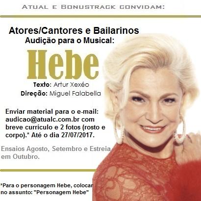 nscrições para audição de Hebe, O Musical, recebem mais de 500 currículos no primeiro dia.  Divulgação