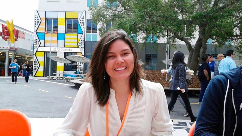 Em visita ao Facebook, Rachel Toyama aproveitou para otimizar conceitos e aprender mais sobre o ramo de startups.  Divulgação