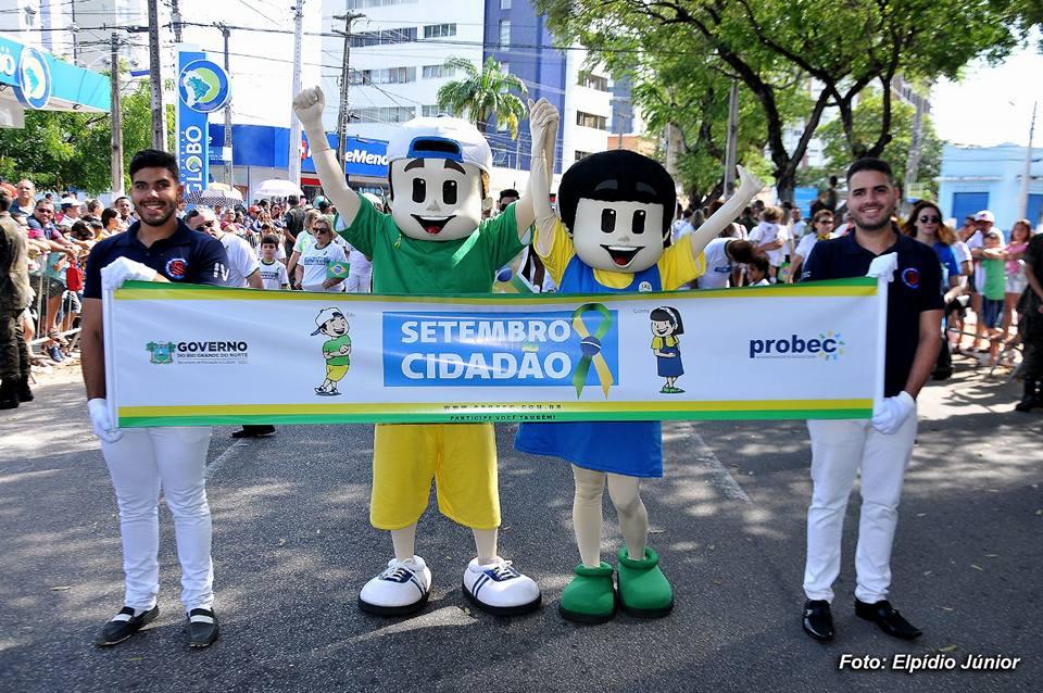 Setembro Cidadão Probec no desfile civico 2
