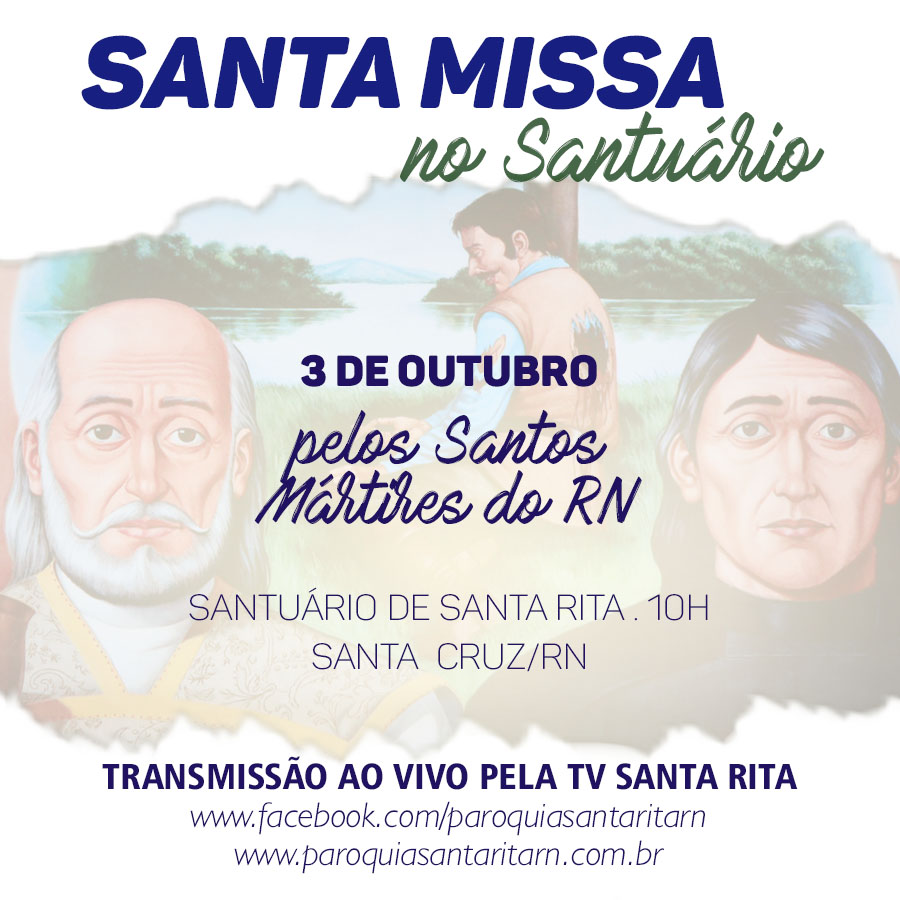 MISSA NO SANTUARIO PELOS MARTIRES