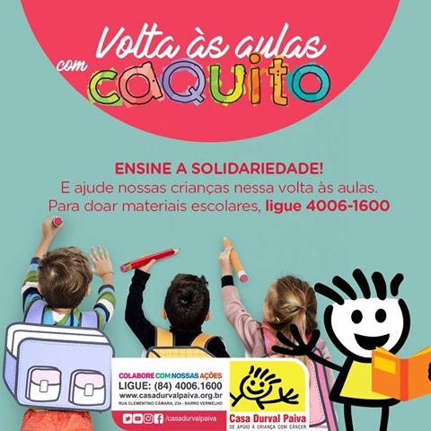 Doação Material Escolar_campanha 2018