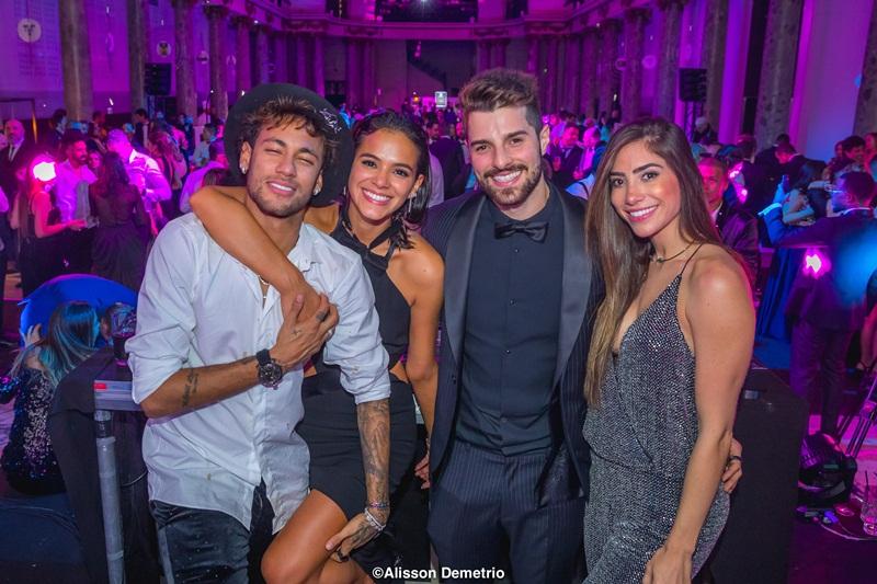 Neymar, Bruna Marquezine, Alok e Romana  Alisson Demetrio