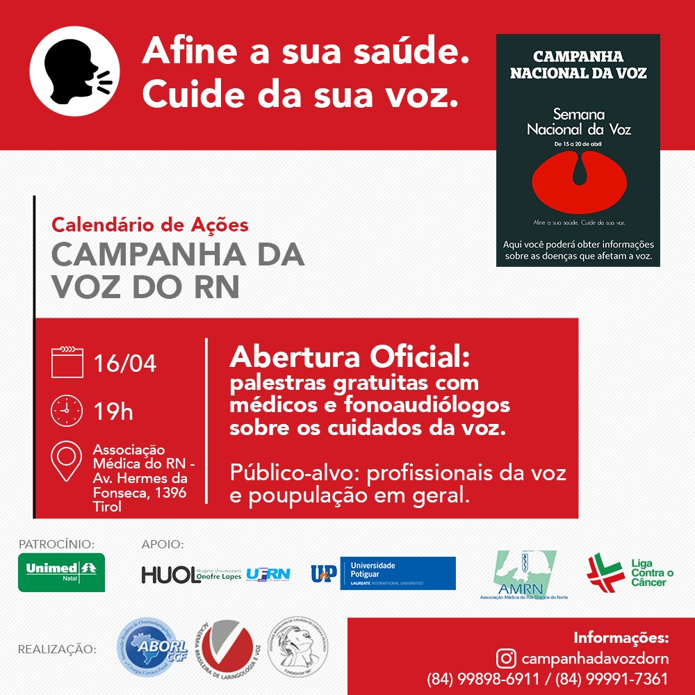Campanha da Voz do RN - Abertura Oficial (16.04)