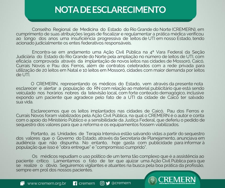 Nota CREMERN