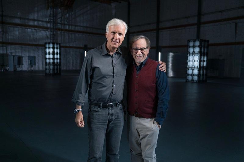 """James Cameron e Steven Spielberg em """"A História da Ficção Científica por James Cameron"""""""
