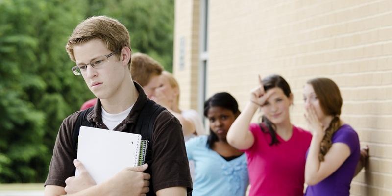 Teens Bullying the Nerd
